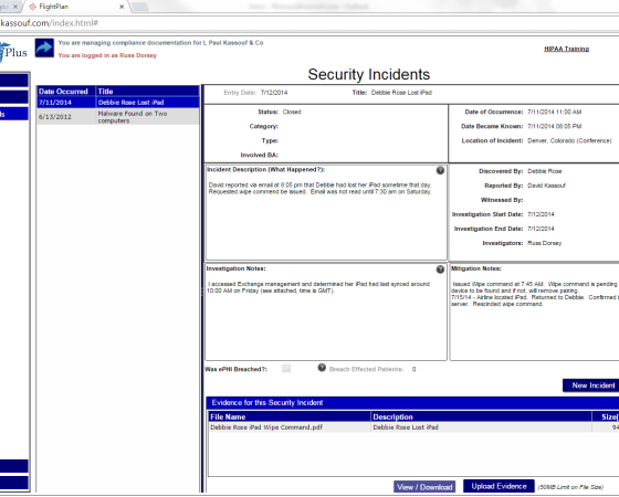 Security Incident Response & Reporting