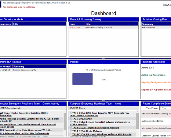 Quick Reference Dashboard